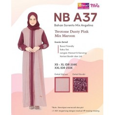 Gamis Nibras NB A37 Dusty Pink