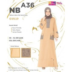 Gamis Nibras NB A36 Gold