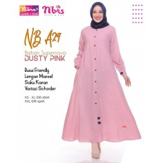 Gamis Nibras NB A29 Dusty Pink
