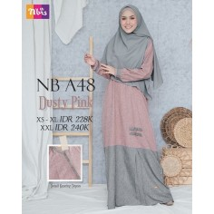 Gamis Nibras NB A48 Dusty Pink