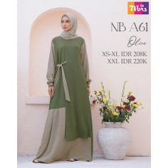 Gamis Nibras NB A61 Olive