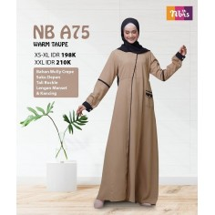 Gamis Nibras NB A75 Warm Taupe