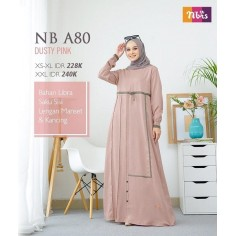 Gamis Nibras NB A80 Dusty Pink