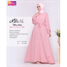 Gamis Nibras NBC 06 Dusty Pink